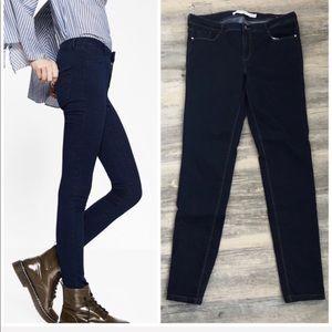 Zara Mid Rise Dark Wash Skinny Jeans